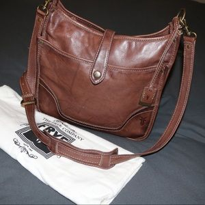 Frye Leather Crossbody Brown